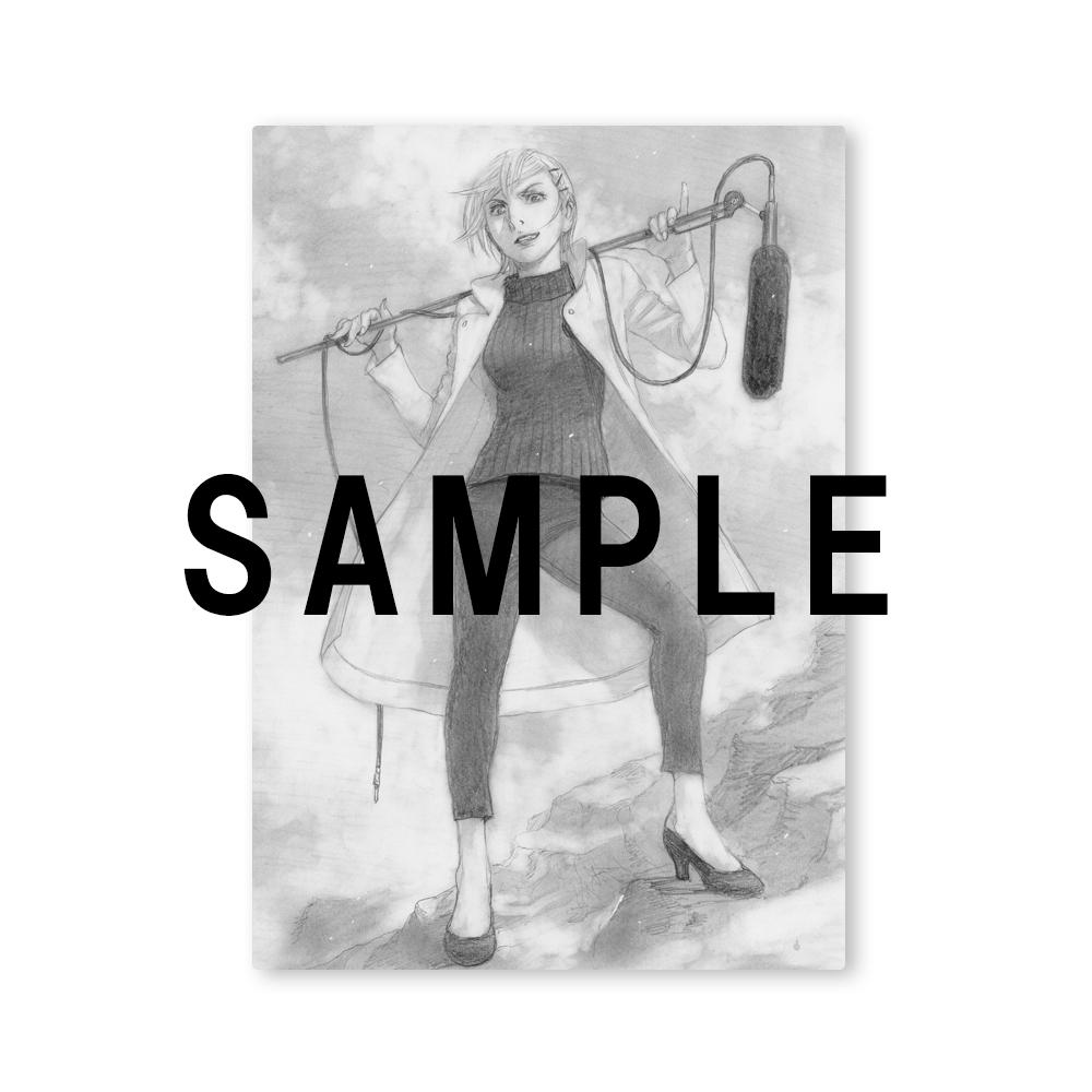 沙村広明先生描き下ろしアニメエンディング絵キャンバスボード「鼓田ミナレ」